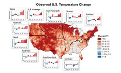 A map depicts temperature changes over the past 20 years, compared to the average between 1901 and 1960. &quot;The period from  2001 to  2011 was  warmer than any previous decade in every region,&quot; according to the National Climate Assessment.