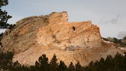 The Crazy Horse monument in March 2012. When finished, it is expected to be be 641 feet long and 563 feet high. It is