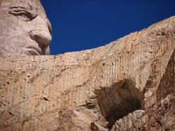 When completed the Crazy Horse mountain carving will be 641 feet long by 563 feet high, and could be the world's largest sculpture.