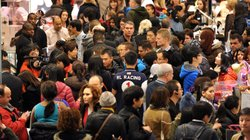 The crowded scene on &quot;Black Friday&quot; at Macy&#39;s in Manhattan. The U.S. population is projected to hit 400 million in 2051, Census says, up from 321 million in 2015.