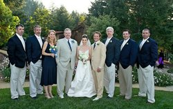 All of the siblings at Bryan and Michael's sister's wedding in June 2007. From left: Jude, Mike, Pam, Bryan, Amy, Curtis (groom), Chris, Luke-Henry and Josh.