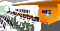 Officials liken the planned digital-only library to an Apple store. The 4,989-square-foot space will look like a modern library with 100 e-readers available for circulation, 50 e-readers for children, 50 computer stations, 25 laptops and 25 tablets on-site.