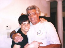 Michael Israel (shown here, left, with his father Avi in 2006) killed himself after becoming addicted to prescription painkillers.