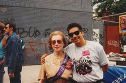 Jeanne Manford and Johnny Mora at Queens Pride.