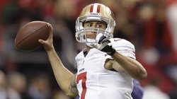 San Francisco 49ers quarterback Colin Kaepernick throws before the NFL football NFC Championship game against the Atlanta Falcons on Jan. 20.