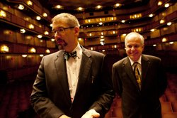 Organ consultant Jeff Weiler (left) and Casavant artistic director Jacquelin Rochette oversaw the tremendous task of building, installing and voicing the Kennedy Center&#39;s new organ.