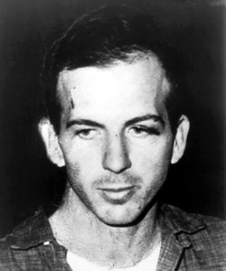 Lee Harvey Oswald on Nov. 23, 1963, after his arrest for  President Kennedy&#39;s assassination. The next day, Oswald was shot and killed as he was being moved from a Dallas police station to the local county jail.