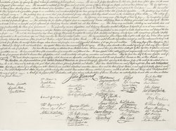 John Hancock's famously large signature is part of our visual heritage, but hand-written signatures are used less and less.