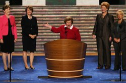 Sen. Barbara Mikulski, D-Md., speaks at the Democratic National Convention last year in Charlotte, N.C. She&#39;s the first woman ever to chair the Senate Appropriations Committee.