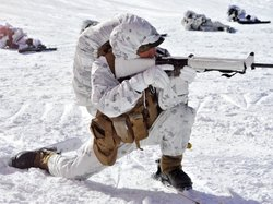 A U.S. Marine taking part in a winter drill in South Korea last month.