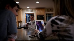The Jordans use an iPad to talk to their daughter, Kelly, who&#39;s at school in Chicago.