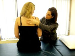 STAR-certified physical therapist Jennifer Goyette works with cancer patients at South County Physical Therapy in Westborough, Mass.
