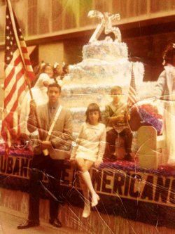 George Prendes (left), with siblings Mercedes and Roberto at a Cuban American parade in New York in the early 1970s. The family spent their savings trying to assist George