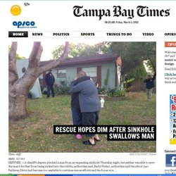 The tragedy is today's top news in Tampa.