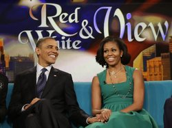 President Obama and first lady Michelle Obama appeared on