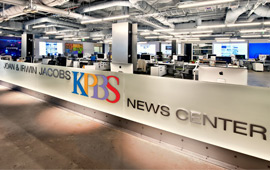 Image of new KPBS News Room