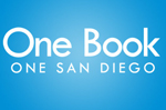 Logo for One Book One San Diego, website will open in new window