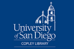Logo for University of San Diego Copley Library, website will open in new window