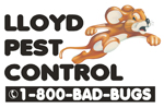 Logo for Lloyd Pest Control, website will open in new window