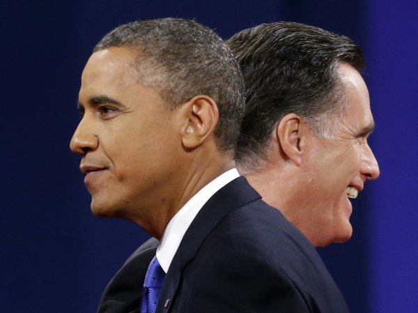 A new NPR poll shows the outcome of the Nov. 6 election is too close to call. GOP presidential nominee, Mitt Romney, leads President Obama nationwide; Obama leads Romney in key battleground states. Both leads are within the poll's margin of error.