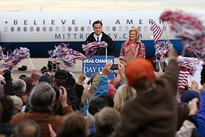 Obama And Romney Go On A Whirlwind Tour In Election's Fin...