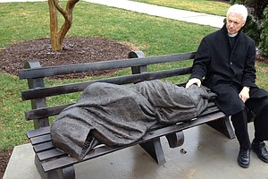 Statue Of A Homeless Jesus Startles A Wealthy Community
