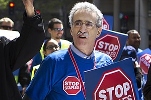 Postal Workers Protest At Staples Over Shift In Jobs