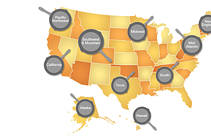 A Cookbook Map Reveals What's Hot In American Regional Cuisine
