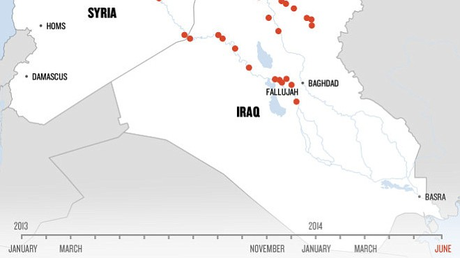 In One Map, The Dramatic Rise Of ISIS In Iraq And Syria | KPBS