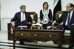 Kerry Meets With Maliki In Baghdad As ISIS Crisis Ramps Up