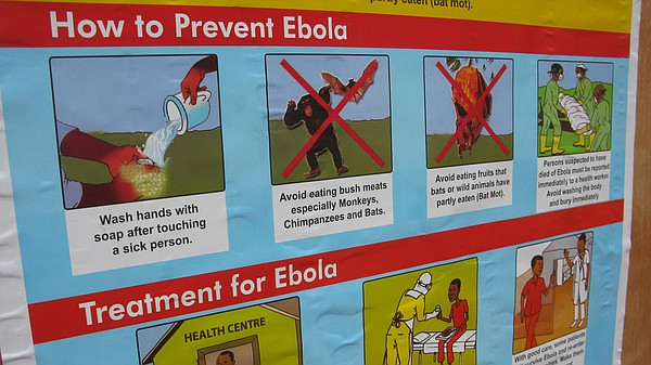 How do you prevent the spread of Ebola? Wash your hands, ...