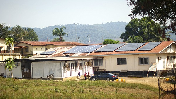 The laboratory at the Kenema Government Hospital in Sierr...