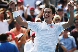 Japan's Nishikori Beats Djokovic, And Makes History