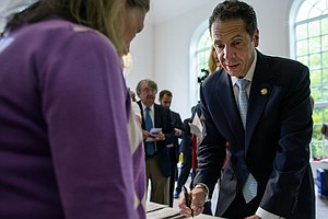 New York Gov. Andrew Cuomo Fends Off Democratic Primary C...