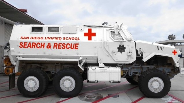 A rendering of the San Diego Unified School District's new MRAP shows it in w...