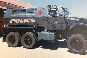 San Diego School District's New 18-Ton Armored Vehicle Creates Stir