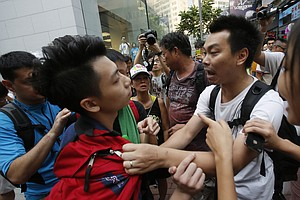 Anti-Protest Mob Attacks Hong Kong Student Camp