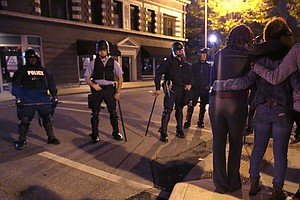 Police, Protesters Clash In St. Louis After Latest Police...