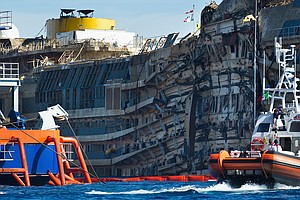 Three Years After Wreck, Remains Of Final Costa Concordia...