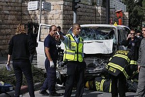 Palestinian Slams Minivan Into Pedestrians In Jerusalem Attack