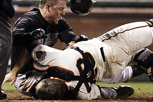 New MLB Rule Cuts Home Plate Crashes, But Not Catcher Concussions