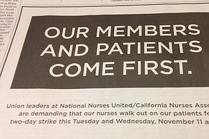 California Nurses Say They'll Strike, Without Talking Wages