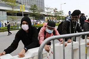 Hong Kong Begins Clearing Main Protest Camp As Demonstrators Watch