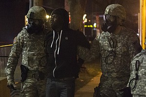 A Calmer Night In Ferguson, Mo., Amid Increased National ...