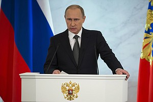 Putin Defiant In Speech In Face Of Sanctions, Economic Woes