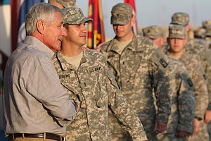 Chuck Hagel Lands In Iraq To Meet With Officials