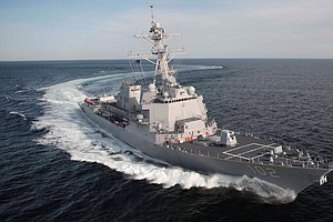 U.S. Warship Joins Hunt For Missing Plane