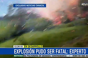 Explosion At Fireworks Warehouse In Colombia Makes For Amazing Video