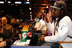 In Case You Were Wondering, Marshawn Lynch Is Here For On...