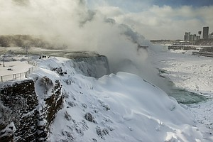 Arctic Temperatures Create Enormous Ice Formations At Niagara Falls
